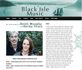 black isle music new Word Press website