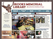 brooks memorial library website
