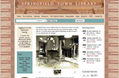 springfield town library website